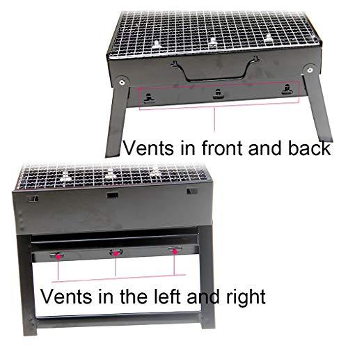 51LzhQmP1oL. SL500  - Grills Kochplatten Holzkohlegrill im Freien beweglichen Faltbarer Barbecue Gratis Maschendraht Grillzubehör (Size : M)