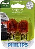 Philips 7444NA LongerLife Miniature Bulb, 2 Pack