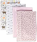 Hudson Baby Unisex Baby Cotton Flannel Burp Cloths, Girl Pinecone, One Size