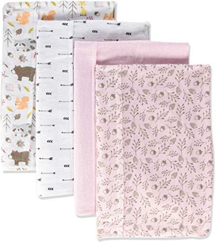 Hudson Baby Unisex Baby Cotton Flannel Burp Cloths, Girl Pinecone, One -