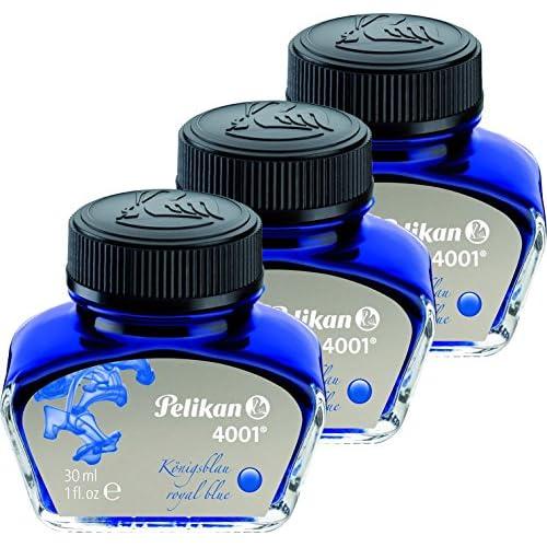 Pelikan Inchiostro 4001, 30ml, 1pezzi, 3er Pack | königsblau, 1