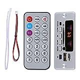 HaiQianXin 02EBT-DX Vehículo para automóvil Manos Libres Placa de decodificación Módulo de Audio Control Remoto Bluetooth (Color : Silver)