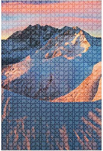 Rompecabezas de madera 500 piezas durante la hora dorada Snow Peak Paisaje Naturaleza Himalaya Diversión y desafiante Rompecabezas de mesa Juego Juguetes Regalo Decoración para el hogar-Puzzle4