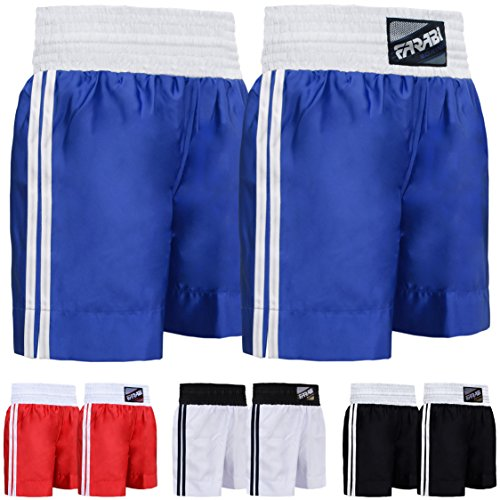 Farabi Pro Boxing Shorts for Boxing Training Punching, Sparring Fitness Gym Clothing Fairtex jiu Jitsu MMA Muay Thai Kickboxing Equipment Trunks (Blue, Medium)
