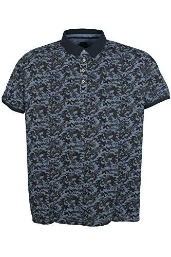 Kitaro Poloshirt Polo Shirt Hawaiihemd Herren Kurzarm Baumwolle Piqué Plusgröße, Farbe:dunkelblau, Herrengrößen:3XL