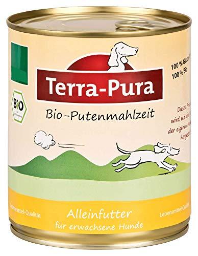 Terra Pura Bio hondenvoer putenmaaltijd glutenvrij, 6er Pack (6 x 800 g)
