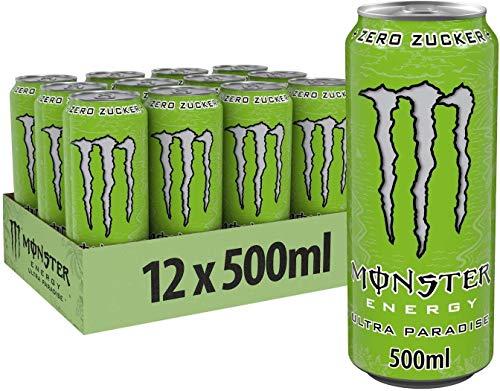 MONSTER ENERGY DRINK PARADISE ZERO ZUCCHERI 500 ML -12 LATTINE