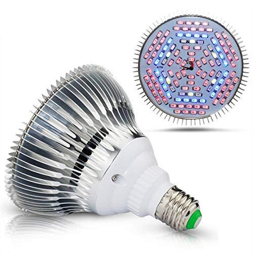 E27 Pflanzenwachstumslampe 30W 50W 80W 700lm / 1000lm / 1500lm UV-Vollspektrum-Blumenlampe 40/78/120 LED Grow Light für Pflanzen-80W 120LEDs