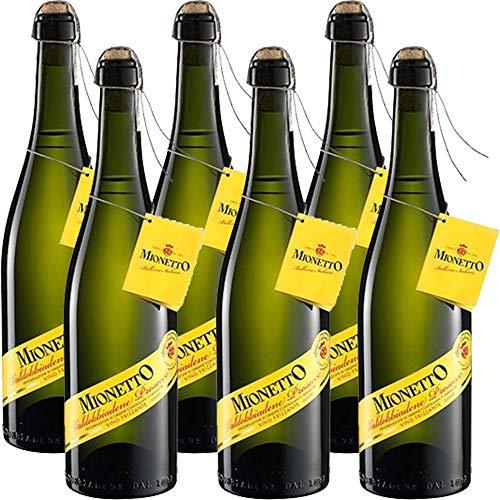 Prosecco Valdobbiadene DOCG Frizzante   Mionetto Spago Legature   Legatura Manuale a Spago   6 Bottiglie 75Cl   Bollicine Italiane   Idea Regalo