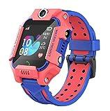 linyingdian Smartwatch Niños,Reloj Inteligente Niños con Flashlight, IP67 LBS SOS, Cámara, Smartwatch con Ranura para Tarjeta SIM, Regalo Niño Niña de 3-12 Años Compatible con iOS/Android (rojo1)