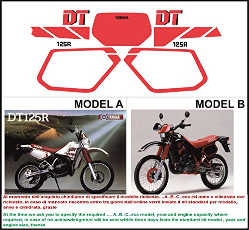 Emanuel & Co Kit adesivi Decal stikers Yamaha DT 125 R 1988 (Geben Sie Model A oder B)