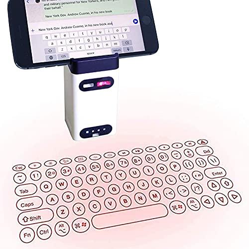 IYUNDUN Teclado Láser Inalámbrico Virtual, Mini Teclado Inalámbrico Bluetooth Y Panel Táctil De Mouse Inalámbrico,para PC, Almohadilla para Teléfono Y Computadora Portátil, Conexión Bluetooth