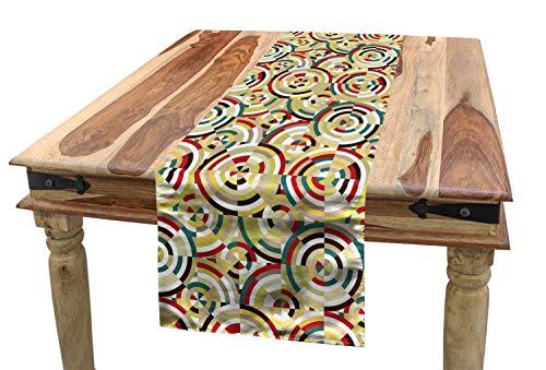 ABAKUHAUS Geometrico Camino de Mesa, Rombo Y La Diana, Rectangular para el Comedor Material Durable, 40 x 300 cm, Multicolor