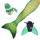 Sun Tails Set Premium Meerjungfrauenflosse Lime Rickey Meerjungfrauen Flosse zum Schwimmen und...