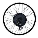 RICETOO Ruota per bicicletta elettrica con motore gearless brushless a trazione anteriore da 48V 1500W, alta velocità, adatta per 20/24/26/27,5/28/29/700 pollici (26inch)