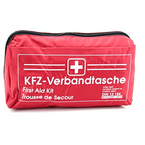 keine Angabe KFZ Auto Verbandkasten Verbandskasten ROT Erste Hilfe DIN 13164 (MHD 06.2025)