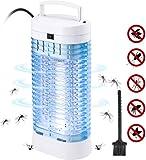 QcoQce Lampe Anti Moustique, Tueur de Moustiques UV LED 11W pour Répulsif Les Moustiques, Mouches et Autres Insectes Lampe Moustique Tueur Silencieux et Non-Toxic Efficace Portée 40M²