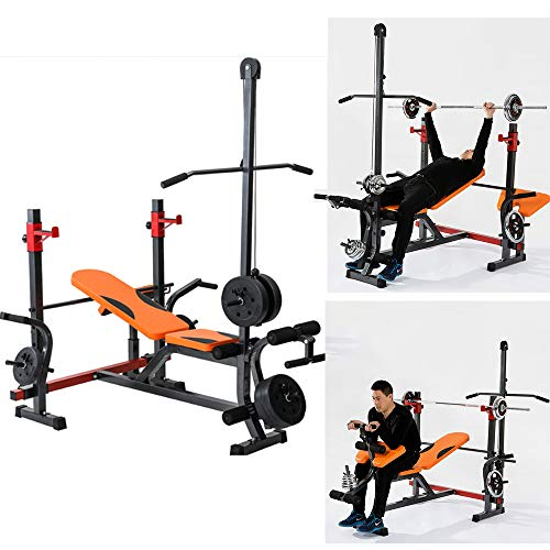 Multifunctional Weight Bench Press Squat Rack Professional Barbell Rack Bracket Home Gym Fitness Equipment(Load Bearing:660lbs)