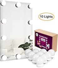 Rubik Hollywood Style LED Vanity Mirror Lights Kit with 10 Dimmable Light Bulbs, Lighting Fixture Strip for Makeup Vanity Table Set in Dressing Room (Mirror Not Include)