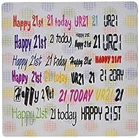 3drose 8x 8x 0.25誕生日の21年古いinピンクイエローNグリーンマウスパッド( MP _ 109329_ 1)