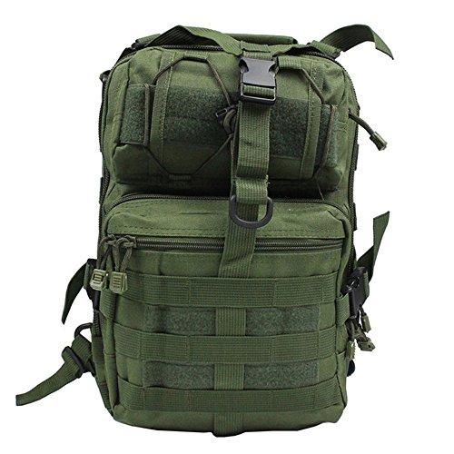 Greenpromise - Mochila táctica militar de asalto para senderismo, acampada, caza, 20 l, verde