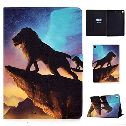 Tedtik Case for iPad Air 3rd Gen 10.5' 2019 / iPad Pro 10.5' 2017/iPad 7th Generation - Ultra Slim Smart Magnetic Back,PU Leather,Multi-angle Front Support Cover,Lion