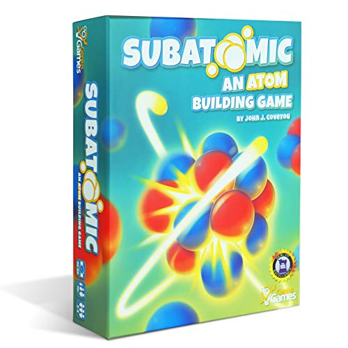 Subatomic: an Atom Building Game (2nd Edition) | A Strategy Board Game with Accurate Science!