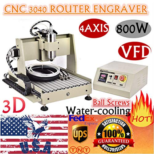 Great Deal! Power Milling Machines, Engraving Cutting Machines, 4 Axis CNC 3040 Router 3D Engraver E...