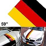 150 cm * 15 cm / 59 '* 6' Etiqueta engomada Alemania PVC Bandera de la raya Calcomanía gráfica para vehículo Espejos del cuerpo del vehículo de motor Guardabarros laterales Faldas Puerta del tronco