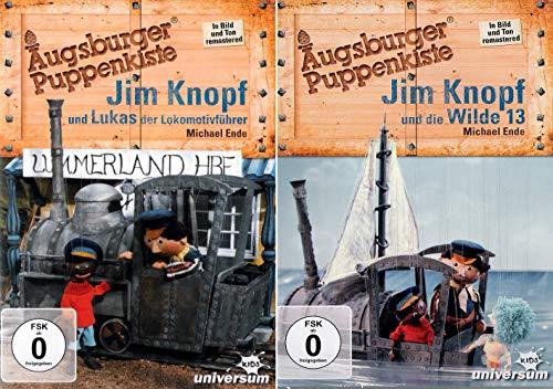 Jim Knopf und Lukas der Lokomotivführer + Jim Knopf und die Wilde 13 - Augsburger Puppenkiste - Set Kollektion (2 DVDs)