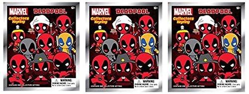 Marvel Deadpool 3-D Figural Foam Keyring Series 1 Blind Bags Set of 3