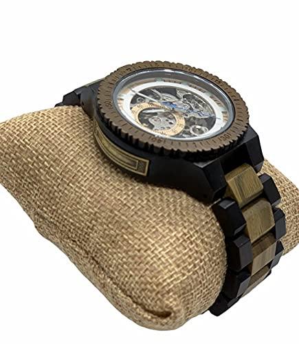 Reloj Pulsera Automático Mecánico De Madera para Hombre