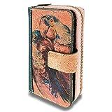 MENKAI-Cartera/Billetera Artesanal Hecha con Corcho Amigable con el Medio Ambiente.Cartera de Corcho, Vegano para Mujer con Bloqueo RFID,Ilustraciones Variadas 1617191