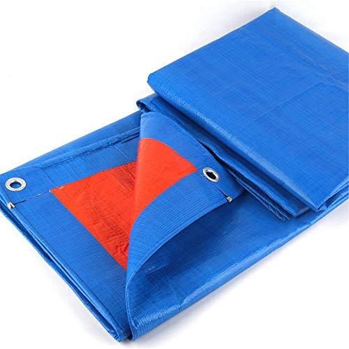 JWC Lonas de PE Impermeables, Lona Azul Resistente, Cubierta de Lona de Polietileno Multiusos, Aislamiento térmico Ligero y Duradero, para Camiones y Barcos al Aire Libre, 19,68 × 19,68 pies