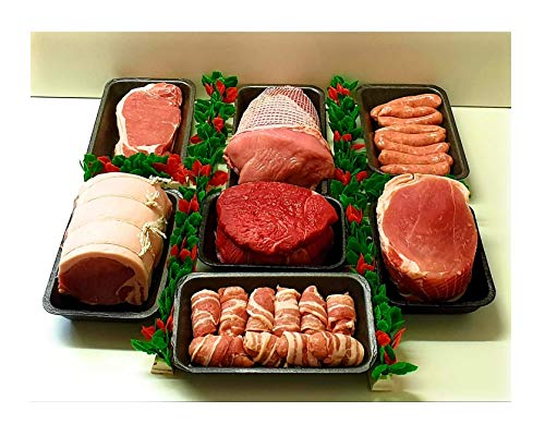 Extra Value Ultimate Budget Bargain Family Weekend Meat Hamper Turkey Pork Beef Gammon Bacon Sausage Bacon Pigs and Blankets