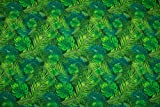 Softshell Dschungel Pflanzen, grün/kiwi
