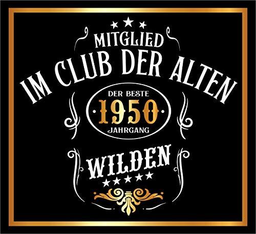 RAHMENLOS 3 St. Aufkleber Original Design: Selbstklebendes Flaschen-Etikett zum 70. Geburtstag: Mitglied im Club der Alten Wilden