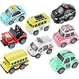HXGL-Drum Toys Pull Back Vehicles, 8 Pack Mini Car Toy para niños, niños, niños, Go Car Die-Cast Toy Play Set