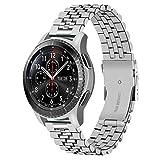 Juntan 3D Correa Reloj 22mm Compatible for Samsung Galaxy Watch 46mm / Gear S3 Frontier/Classic/Galaxy Watch 3 45mm Correa Reloj Acero Inoxidable Engineer para Hombres Mujeres Plata