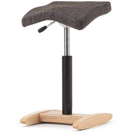 バランスシナジー (組立式) スクエア オートリターン付 織柄グレー 腰痛椅子 腰痛対策 バランスチェア 幅:330mm・奥行:358mm、座面高:485~665m