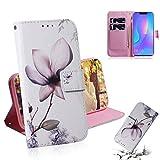 Dmtrab Phone Case for Huawei P Smart Plus (2019) / Nova 3i Portefeuille, Motif de Fleurs de Magnolia...