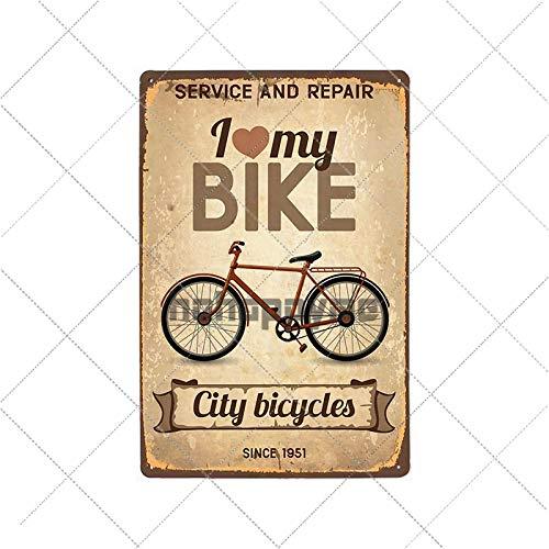 WE Carteles de Chapa de Metal Retro para Bicicleta, Cartel Vintage para Montar en Bicicleta, Bar, Pub, Club, decoración de habitación, Placa de Pared, decoración del hogar 2033024