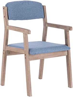 Armchair,Dining Chair Wooden Warm Retro Lounge Chairs for Diningroom/Bedroom/Bedroom/Sitting Room Furniture (Color : Blue)
