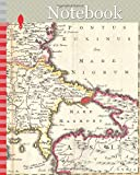 Notebook: 1738, Ratelband Map of the Balkans, Bosnia, Serbia, Bulgaria, Rumania
