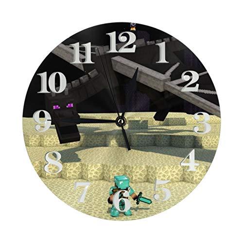 Mi-Necraft 44 Uhr Art Deco arabische Ziffern Runde Wanduhr batteriebetrieben geeignet für moderne Heimdekoration von Wohnzimmer, Küche, Schlafzimmer und Terrasse
