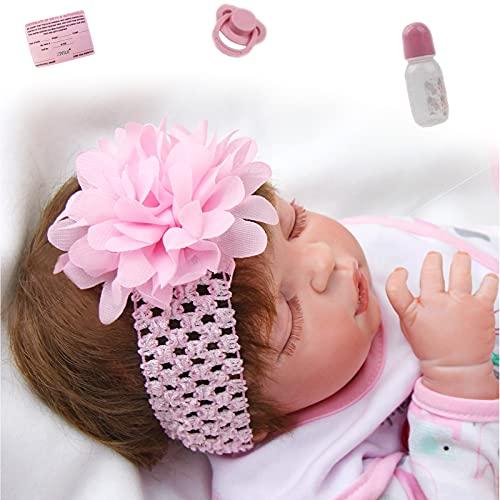 ZIYIUI Reborn Doll 23 Pulgadas 57cm Realmente Suave Silicona Reborn Doll Mujer Realista Recién Nacido Regalo de Cumpleaños Juguete Pareja Colección de Regalos