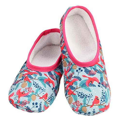 Snoozies Skinnies Lightweight Slippers | Cozy Slippers for Women | Travel Flats On The Go | Womens Slippers | Cardinals | Large