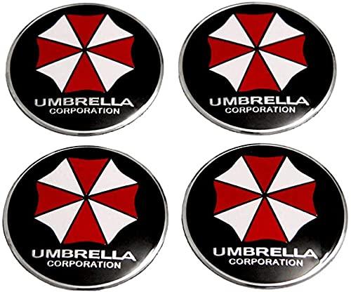 4 Piezas Coche Rueda Buje Tapas Centrales para Citroen C5 Alfa Romeo Mitsubishi Asx Vw B5 Golf 4 Mazda 6, Tapones Impermeabl Polvo Decorativo Accesorios Ornamentales con Logo