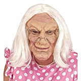 Widmann 02115 Maske alte Frau mit Perücke, Unisex– Erwachsene, Grau, Einheitsgröße