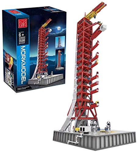 FanMei Technologie NASA Saturn V Raketenwerfer, kompatibel mit Lego NASA Apollo Saturn V 21309 Baukasten, 3586 Teile im Maßstab 1: 100